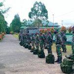 Dandim Boven Digoel berangkatkan personil Satgas TMMD Ke-109 ke wilayah perbatasan RI-PNG