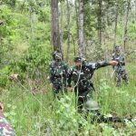 *DANREM 174 MERAUKE BRIGJEN TNI BANGUN NAWOKO AWASI LANGSUNG LATIHAN UJI SIAP TEMPUR TINGKAT KOMPI YONIF 757/GV*
