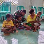 Memperingati Hari Gizi Anak Nasional Pos 4/Umap Jajaran Kipur B Melaksanakan Pemberian Bubur Kepada Anak Kampung Umap.